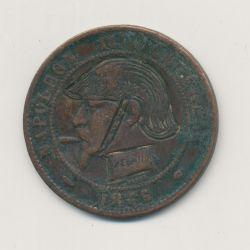 Monnaie satirique - 10 centimes 1855 A - regravé casque à pointe - TB