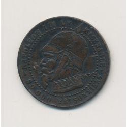 Monnaie satirique - Module 5 centimes - Napoléon III - 25mm - Vampire Français - TB
