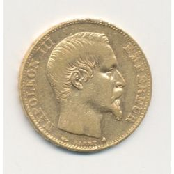 Napoléon III - 20 Francs Or - 1855 BB Strasbourg - Tête nue - TB/TTB