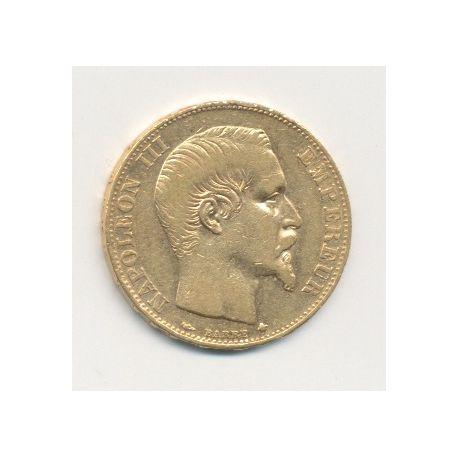 Napoléon III - 20 Francs Or - 1855 BB Strasbourg - Tête nue