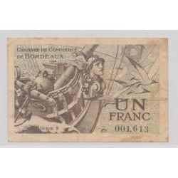Dept 33 - 1 Franc 1921 - Bordeaux - série 8 - TB+