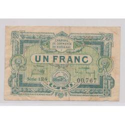 Dept 33 - 1 Franc 1920 - Bordeaux - série 124 - TB+