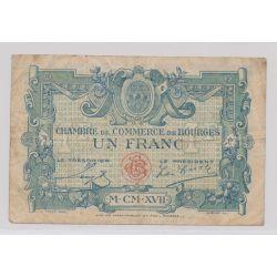 Dept 10 - 1 Franc 1922 - Bourges - TB+