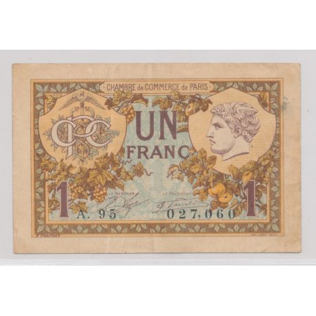 Dept75 - 1 Franc 1920 - Paris - TTB