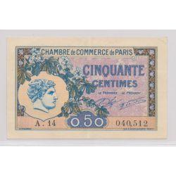Dept75 - 50 Centimes 1920 - Paris - TTB+