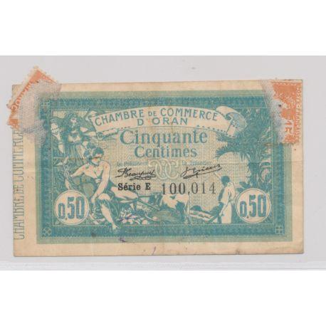 50 Centimes 1915 - Oran - série E - TB