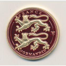 Médaille - Normandie - en couleur - 32mm