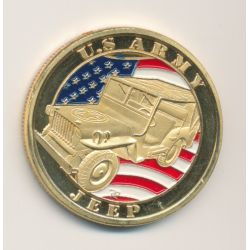 Médaille - US Army - Jeep - 31mm