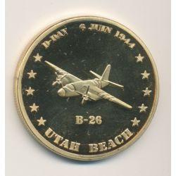 Médaille - B-26 - Utah Beach - D-Day - 6 juin 1944 - 34mm