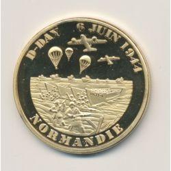 Médaille - Normandie - D-Day débarquement allié - 6 juin 1944 - 34mm