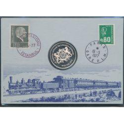 Livret médaille - Dernier voyage de l'Orient Express - 1977 - argent