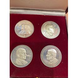 Coffret 4 Médailles - De Jean XXIII à Jean Paul II - argent - 1978 - SPL+