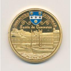 Médaille - Cherbourg octeville - bassin du commerce - en couleur - 31mm