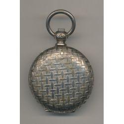 Porte Louis - 20 Francs Or - motif quadrillé - métal argenté - Ref7