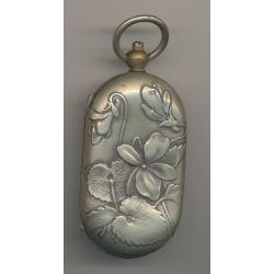 Porte Louis - 10 et 20 Francs Or - motif fleurs - métal argenté - Ref11