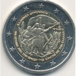 2€ Grece - 2013 - 100e anniv rattachement Crète à la Grèce