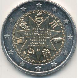 2€ Grece - 2014 - 150e anniv.Union Iles Ioniennes à la Grèce