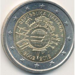 2€ Italie - 2012 - 10 ans euro