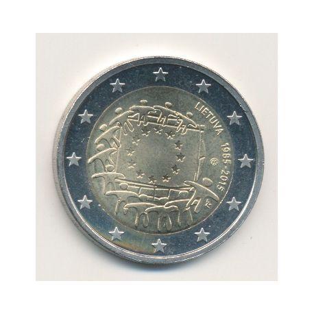 2€ Lituanie - 2015 - 30 ans drapeau européen
