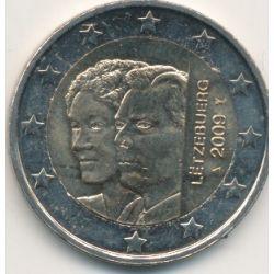2€ Luxembourg 2009 - Grand duc Henri et Grande duchesse Charlotte