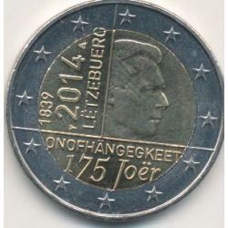 2€ Luxembourg 2014 - 50e anniv accession trône Grand-Duc Jean