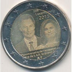 2€ Luxembourg 2015 - 15e anniv de accession trone Grand Duc Henri