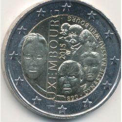 2€ Luxembourg 2015 - 125e anniv dynastie Nassau-Weilburg.