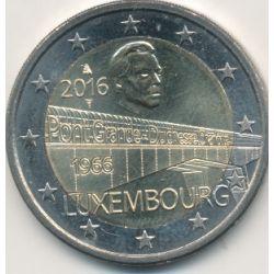 "2€ Luxembourg 2016 - pont ""grande duchesse Charlotte """