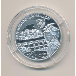 Médaille - Languedoc-roussillon - argent 20g - Trésors de nos régions - 7.500 ex - 34mm - FDC