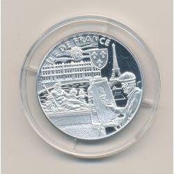 Médaille - Ile de France - argent 20g - Trésors de nos régions - 7.500 ex - 34mm - FDC