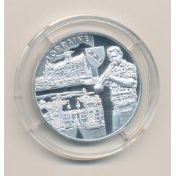 Médaille - Lorraine - argent 20g - Trésors de nos régions - 7.500 ex - 34mm - FDC