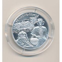 Médaille - Franche Comté - argent 20g - Trésors de nos régions - 7.500 ex - 34mm - FDC