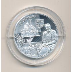 Médaille - Martinique - argent 20g - Trésors de nos régions - 7.500 ex - 34mm - FDC