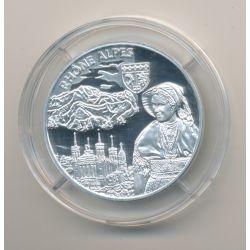 Médaille - Rhône Alpes - argent 20g - Trésors de nos régions - 7.500 ex - 34mm - FDC