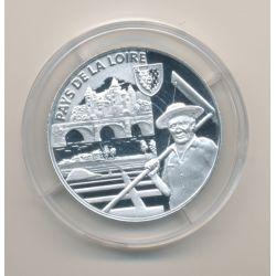 Médaille - Pays de la loire - argent 20g - Trésors de nos régions - 7.500 ex - 34mm - FDC
