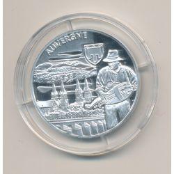 Médaille - Auvergne - argent 20g - Trésors de nos régions - 7.500 ex - 34mm - FDC