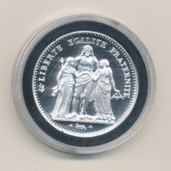 Médaille - Refrappe 5 Francs Camélinat 1871 - argent 10g - 30mm - 5.000 ex