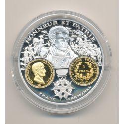 Médaille  - Bonaparte - 1 Franc AN XI - 2000 ans d'histoire monétaire Français