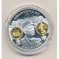 Médaille  - De Gaulle - 1 Franc Semeuse - 2000 ans d'histoire monétaire Français