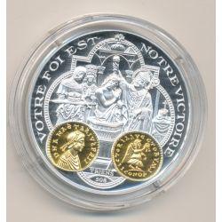 Médaille  - Clovis - Triens - 2000 ans d'histoire monétaire Français