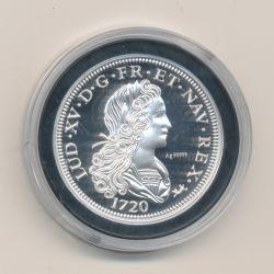 Médaille - Refrappe Petit louis d'argent Louis XV - argent 10g - 30mm - 5.000 ex
