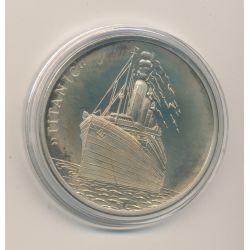 Médaille - Titanic - Revers homme à la barre - 41mm - cupronickel - FDC