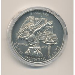 Libéria - 5 Dollars 2000 - Jeux Olympiques - cupronickel - FDC