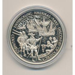 Médaille - Christophe Colomb - découverte de l'Amérique 1492 - 2000 - cupronickel - 40mm - FDC
