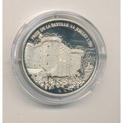 Médaille - 1789 Prise de la bastille - argentan - 30mm - collection les présidents Français - belle épreuve