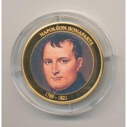 Médaille - Napoléon Bonaparte - 1769-1821 - cuivre doré - 35mm - les rois de France - FDC
