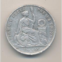 Pérou - Sol - 1870 YJ Lima - argent - TB
