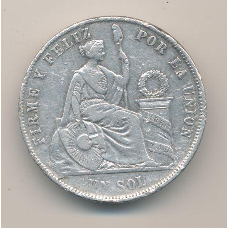 Pérou - Sol - 1870 IJ Lima - argent - TB