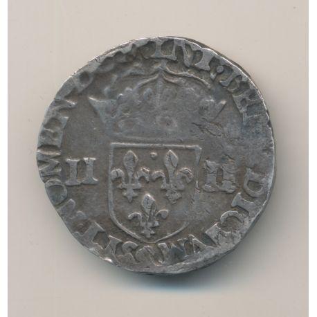 Henri III - 1/4 écu - 1580 Rennes - TB