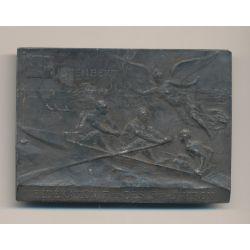 Art nouveau - Médaille - Fédération française des sociétés d'aviron - coupe de France 1907 - argent - TTB